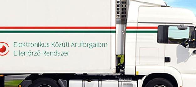 2015. január 1-jétől elindult az Elektronikus Közúti Áruforgalom Ellenőrző rendszer
