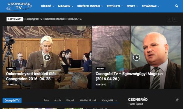 Elkészült a Csongrád TV új honlapja
