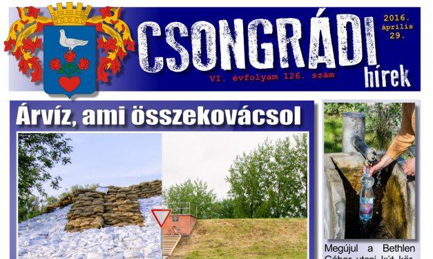Letölthető a Csongrádi Hírek legújabb (126.) száma