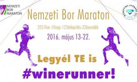 Május 13-án elrajtol a II. Nemzeti Bor Maraton