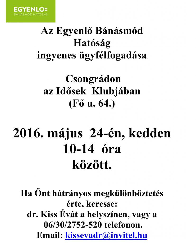 Csongrád - plakát 2016. május 24.
