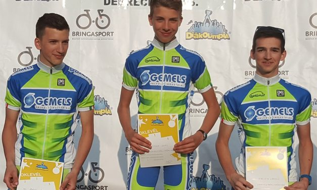 Országos Kerékpáros Diákolimpia, 2×3. hely: Giricz László