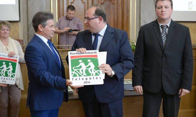 Kerékpárosbarát Település címet nyert Csongrád