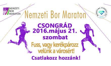 Nemzeti Bor Maraton csongrádi programjai