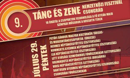 Pénteken kezdődik a 9. Tánc és Zene Nemzetközi Fesztivál