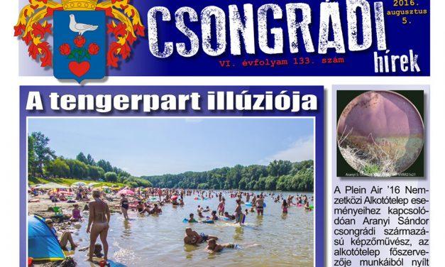 Letölthető a Csongrádi Hírek legújabb (133.) száma