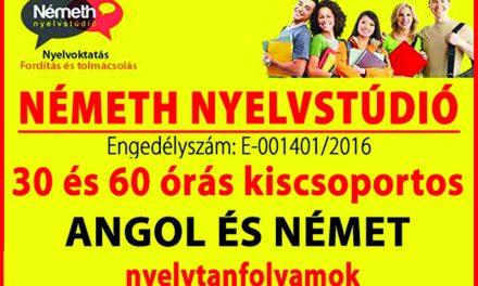Angol és német tanfolyamok indulnak Csongrádon