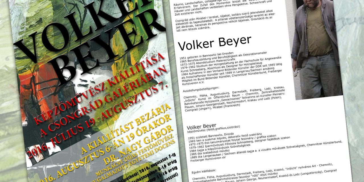Volker Beyer kiállítása