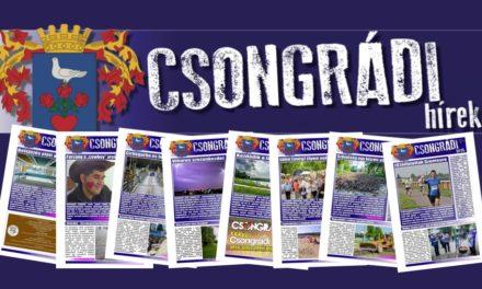 Megtekinthető a Csongrádi Hírek legújabb, november 25.-én megjelenő (141.) száma