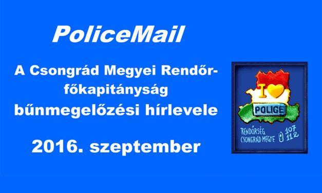 PoliceMail – 2016. szeptember