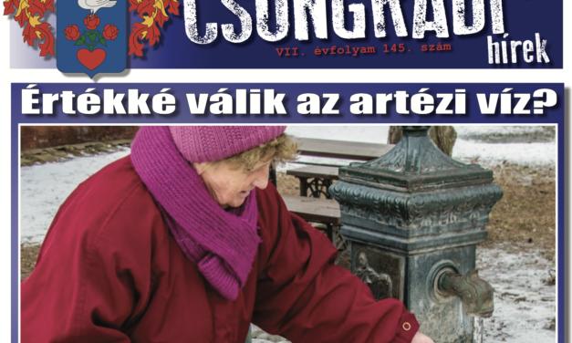 Megtekinthető a Csongrádi Hírek legújabb, január 20.-án megjelenő (145.) száma