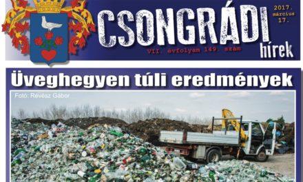 Megtekinthető a Csongrádi Hírek legújabb, március 17-én megjelenő (149.) száma