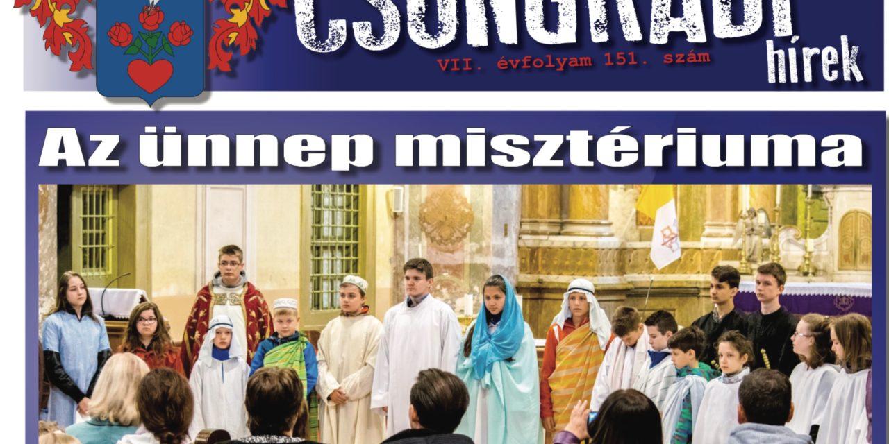 Megtekinthető a Csongrádi Hírek legújabb, április 14-én megjelenő (151.) száma