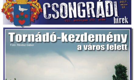 Megtekinthető a Csongrádi Hírek legújabb, május 12-én megjelenő (153.) száma