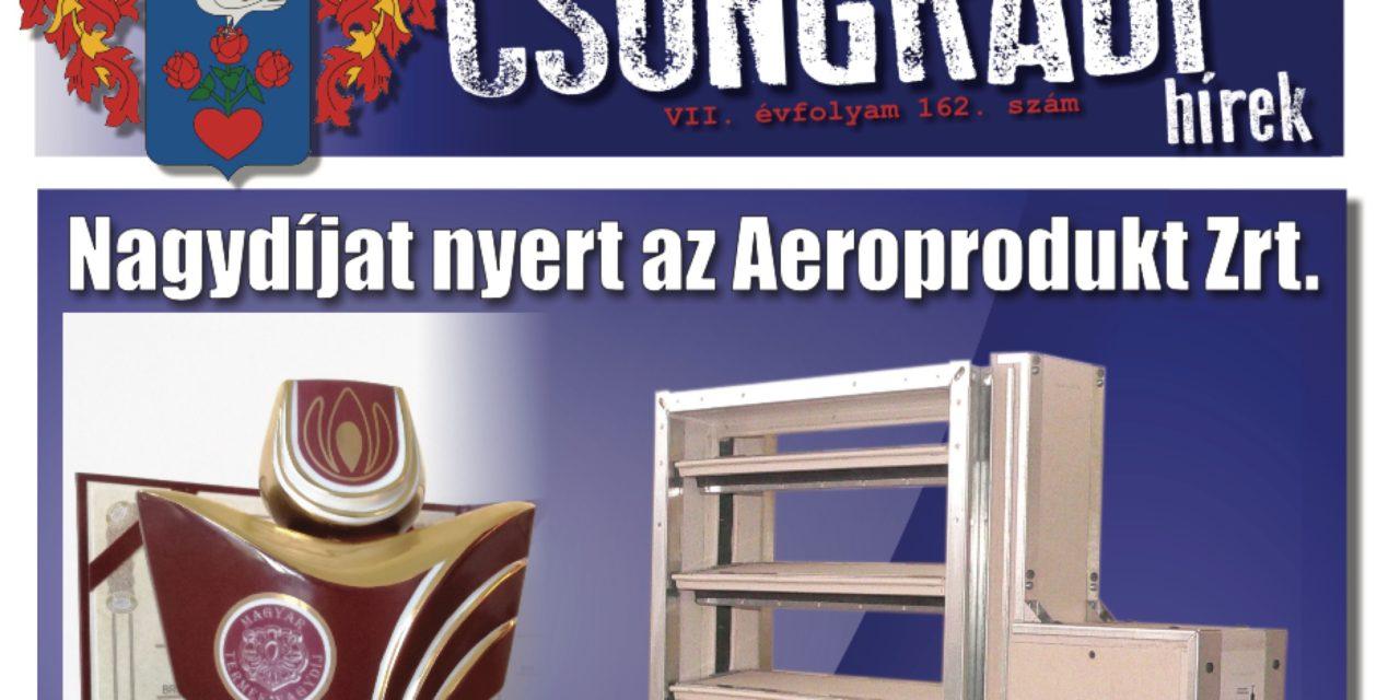 Megtekinthető a Csongrádi Hírek legújabb, szeptember 15-én megjelenő (162.) száma