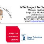MTA SZAB Logisztikai Munkabizottság Meghívója