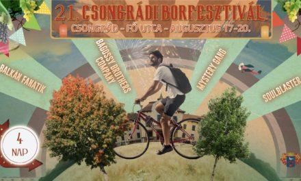 21. Csongrádi Borfesztivál programjai
