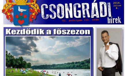 Letölthető a Csongrádi Hírek legújabb (131.) száma
