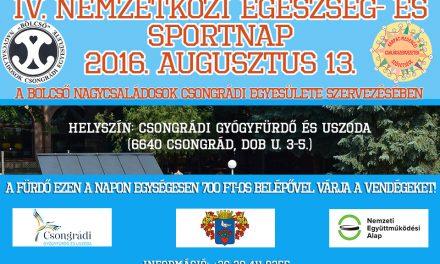 IV. Nemzetközi Egészség- és Sportnap