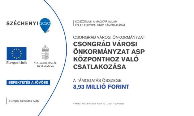 Csongrád Városi Önkormányzat ASP központhoz való csatlakozása
