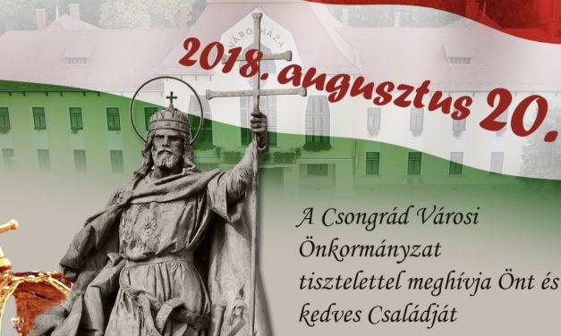 2018. Augusztus 20-ai városi ünnepség
