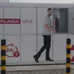Pébégáz palack automata Csongrádon