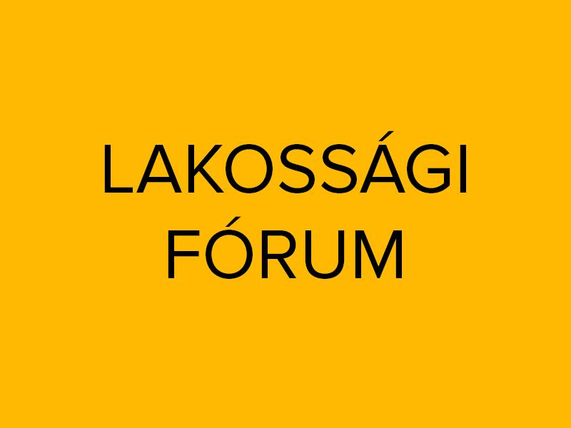 Meghívó Dr. Somogyi Árpád és Nagypál Sándor lakossági fórumára