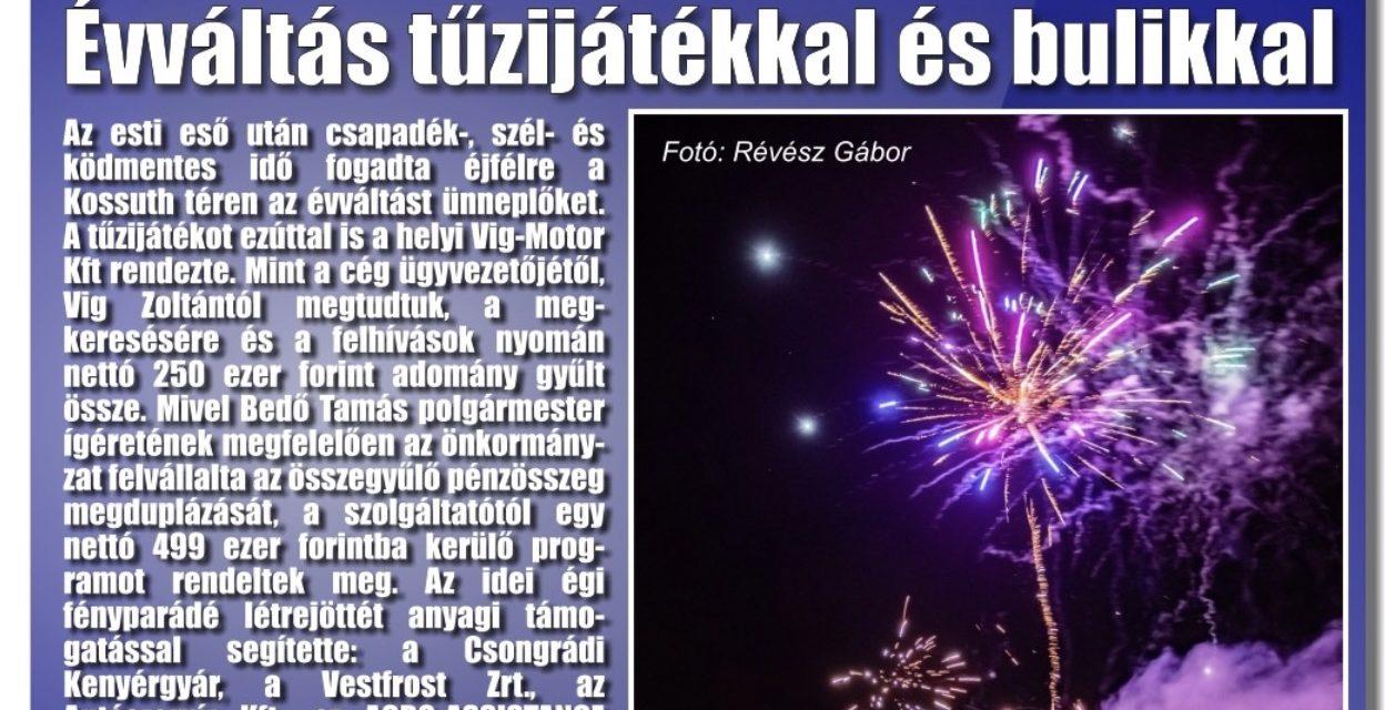 Megtekinthető a Csongrádi Hírek legújabb, január 4-én megjelenő (195.) száma