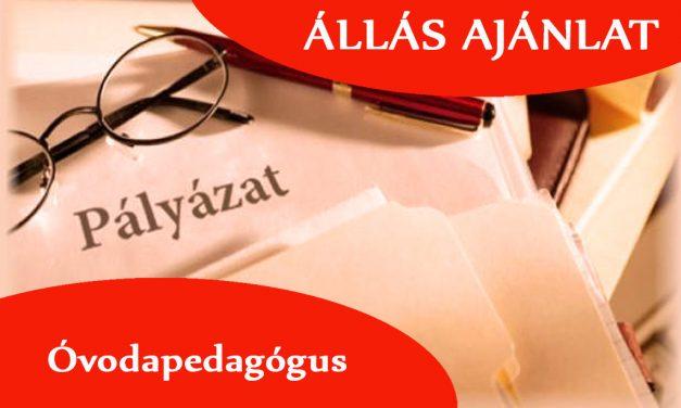 Csongrádi Óvodák Igazgatósága tagintézményei pályázatot hirdet 3 fő Óvodapedagógus  munkakör betöltésére