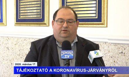 Bedő Tamás polgármester tájékoztatója a koronavírussal kapcsolatban – 2020.03.17.