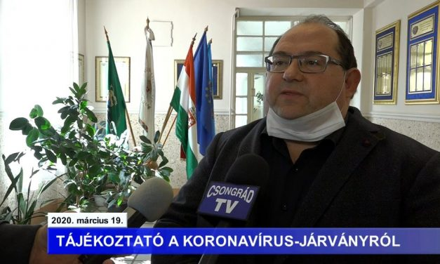 Bedő Tamás polgármester tájékoztatója a koronavírussal kapcsolatban – 2020.03.19.