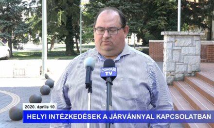 Bedő Tamás polgármester tájékoztatója a koronavírusról – 2020.04.10.