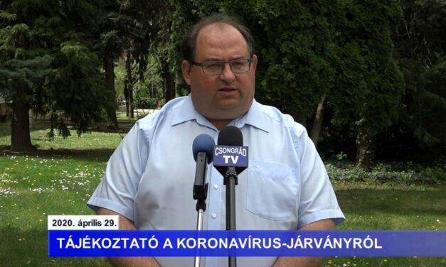 Bedő Tamás polgármester tájékoztatója a koronavírusról – 2020.04.29.