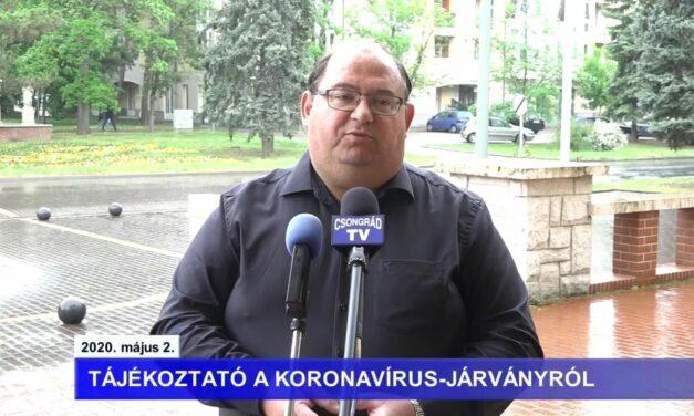 Bedő Tamás polgármester tájékoztatója a koronavírusról – 2020.05.02.