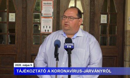 Bedő Tamás polgármester tájékoztatója a koronavírusról – 2020.05.09.
