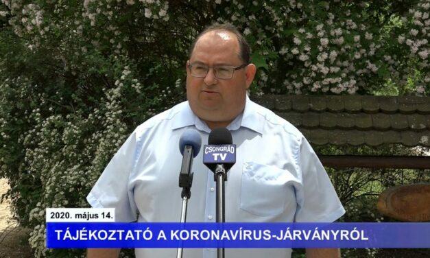 Bedő Tamás polgármester tájékoztatója a koronavírusról – 2020.05.14.