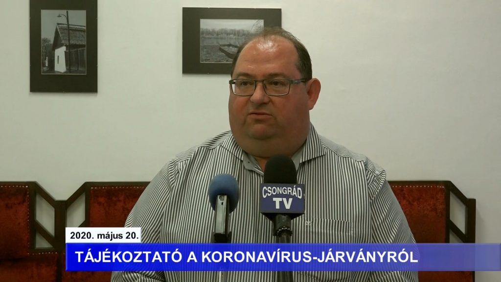 Bedő Tamás polgármester tájékoztatója a koronavírusról – 2020.05.20.