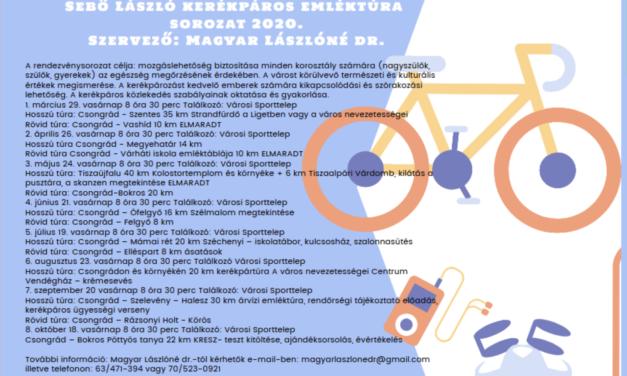 8×2 keréken – Sebő László kerékpáros emléktúra sorozat 2020.