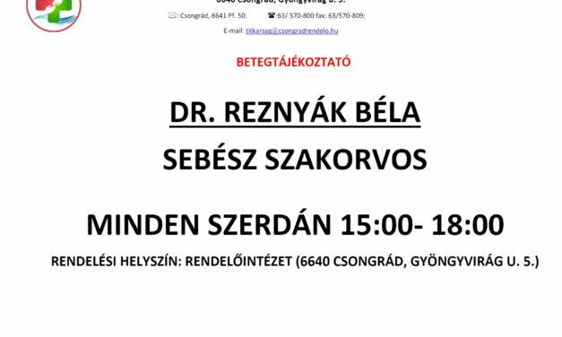 Sebészeti szakrendelésre vonatkozó betegtájékoztató